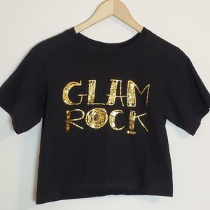 Curiously Vintage Tops - Glam Rock Cropped Tee